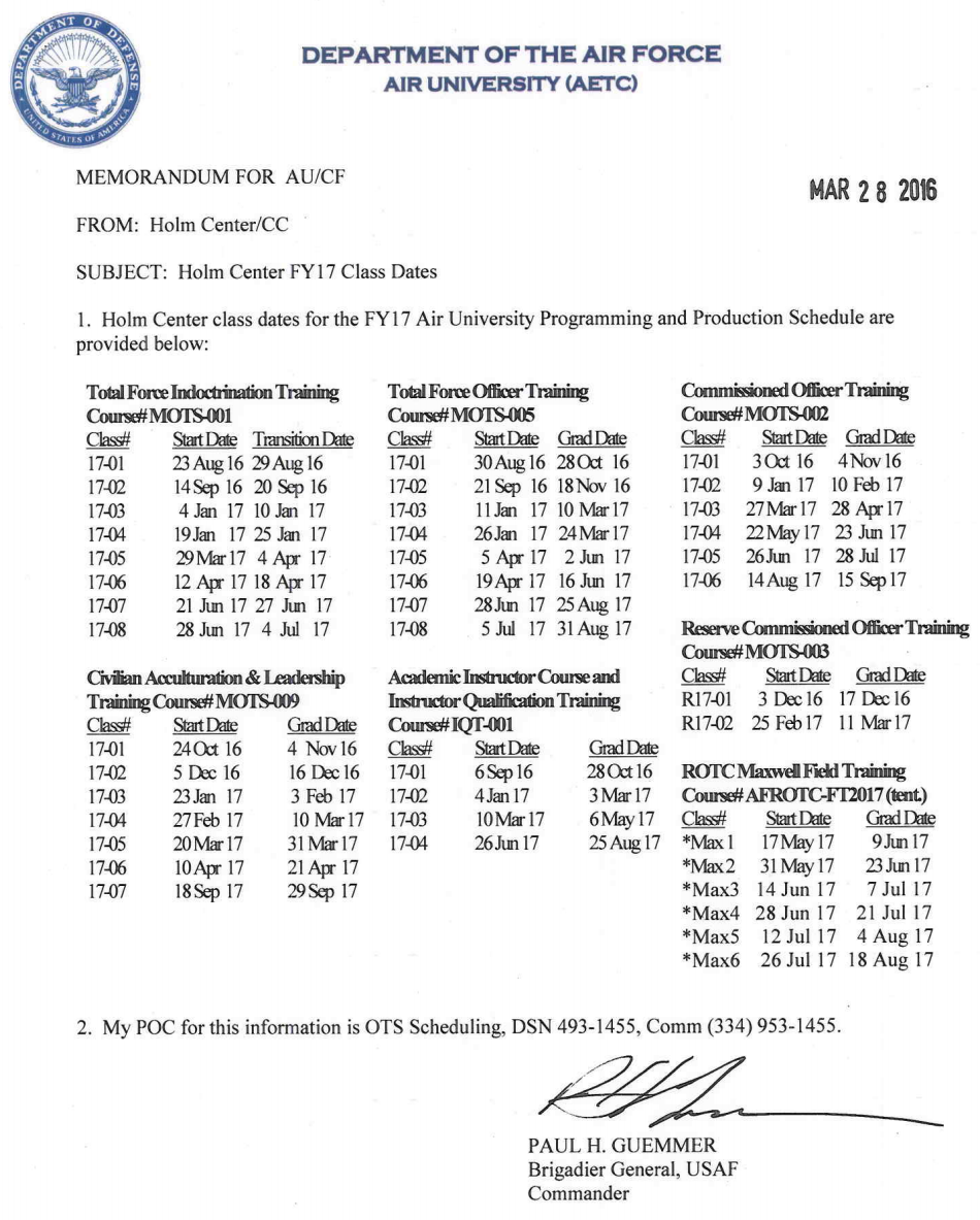 air force ots letter of recommendation example